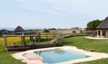 Hlosi Game Lodge Amakhala Game Reserve Pool View