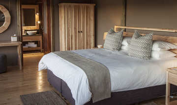 Hlosi Game Lodge Amakhala Game Reserve Accommodation Luxury Tent Bedroom